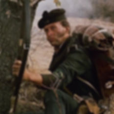 Richard Moore depicting a Rifleman of the 95th Rifles on the TV series 'Sharpe'.