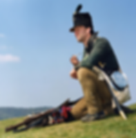 Richard Moore recreated a Rifleman of the 95th Rifles