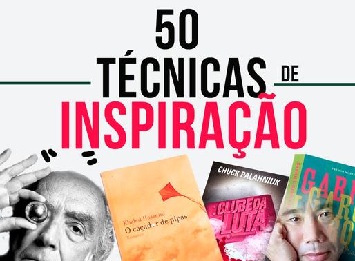 50 técnicas de inspiração por escritores bem-sucedidos