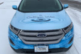 Full printed wrap on Culligan water Ford Edge