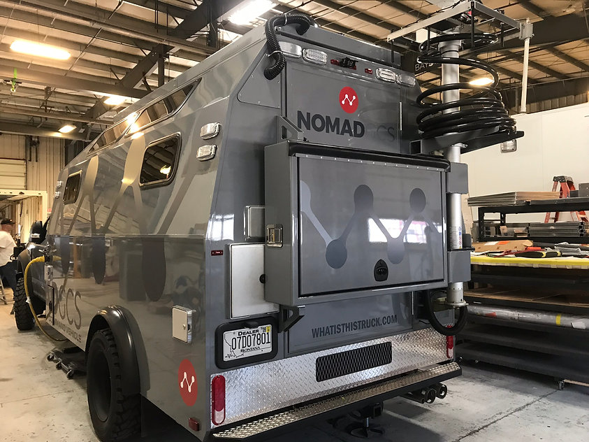 Nomad tactical commnd vehicle. Matte black decals by Wrap Hive