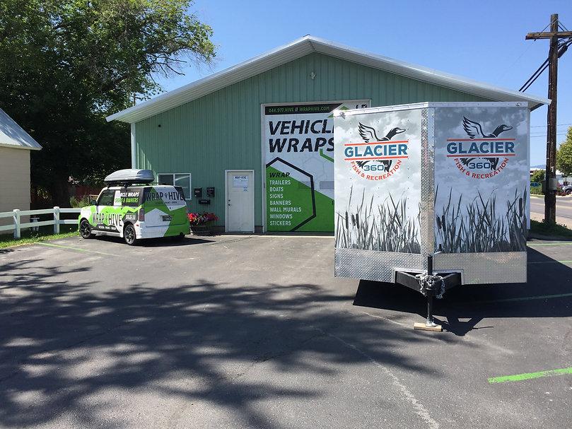 Front of Glacier 360º trailer wrap