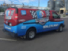 Fleet vehicle wrap by Wrap Hive in Kalispell, MT. Van wrap for Modern Plumbing and Heating.