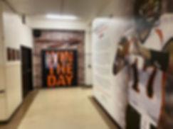 Walls and door graphics at Flathead High School