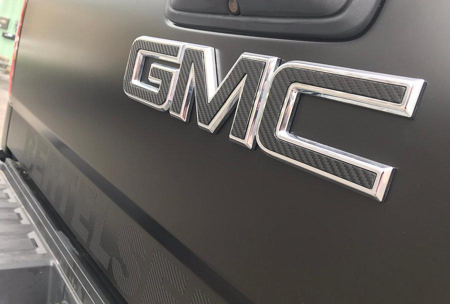 Carbon fiber GMC emblem