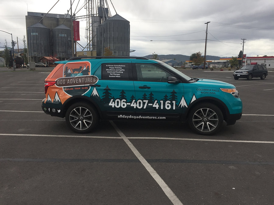 Vehicle wrap by Wrap Hive for All Day Dog Adventures
