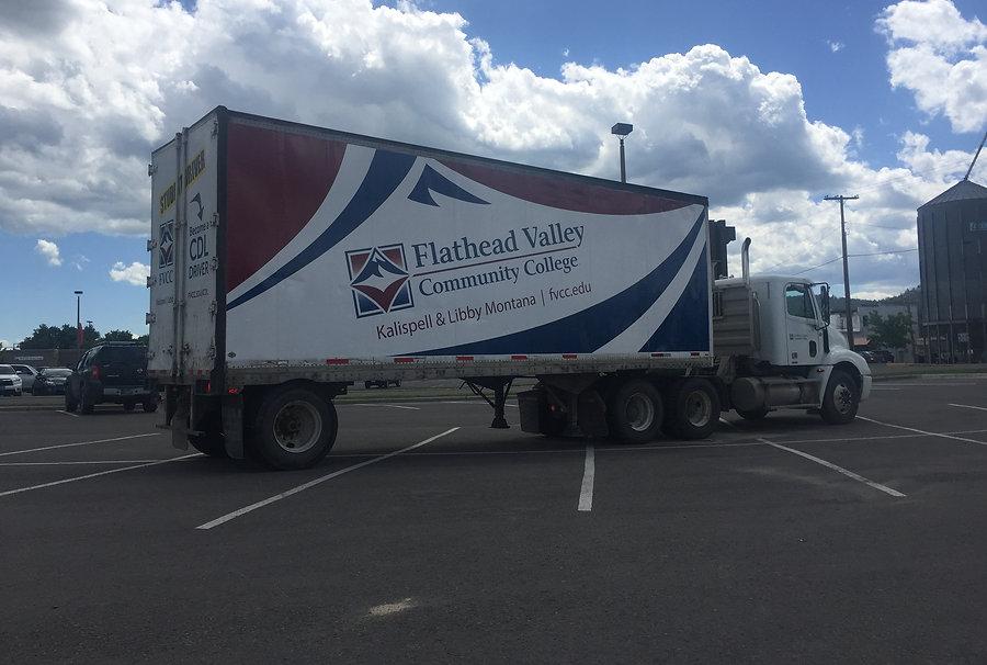 partial wrap Flathead Valley CC box truck
