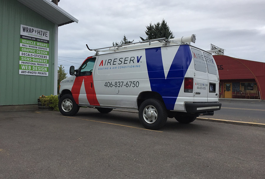 Van decals by Wrap Hive serving the Flathead Valley.