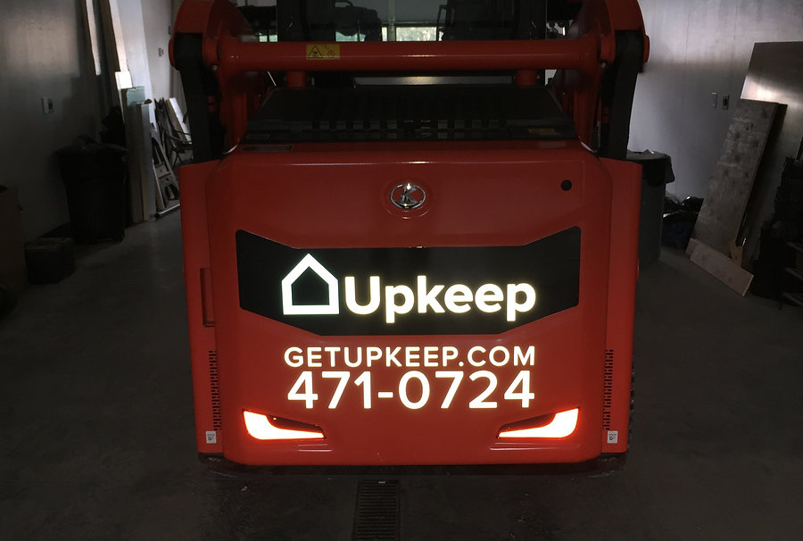 Relfective decals cut and installed by Wrap Hive