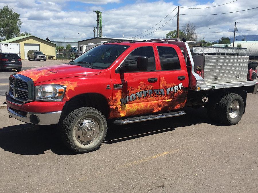 Fleet vehicle wrap by Wrap Hive in Kalispell, MT. Van wrap for Modern Plumbing and Heating.