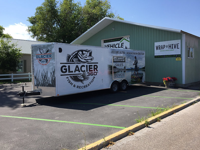 Gliacier 360º trailer wrap by Wrap Hive