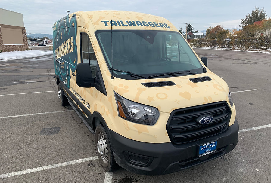 Pet pattern on front of Ford Transit