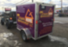 Enclosed trailer to rolling billboard overnight! Wrap Hive creates a BUZZ for your business!