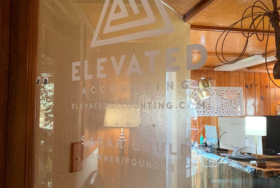 Logo and text window decals by Wrap Hive