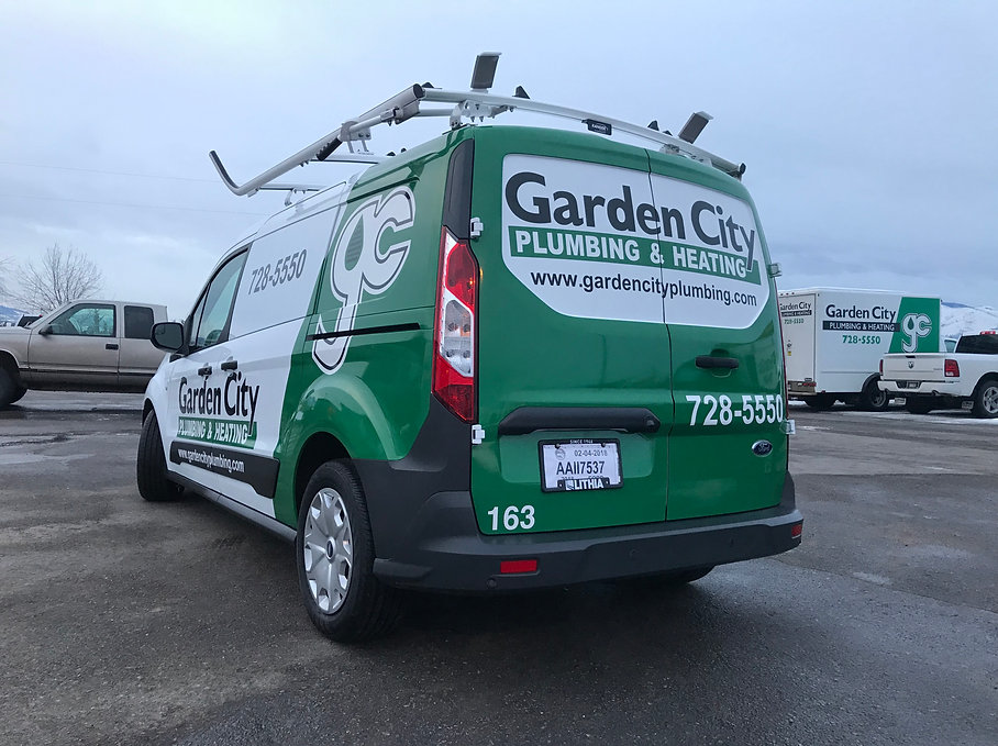 Ford Transit, Garden City, Partial wrap, Wrap Hive, Missoula