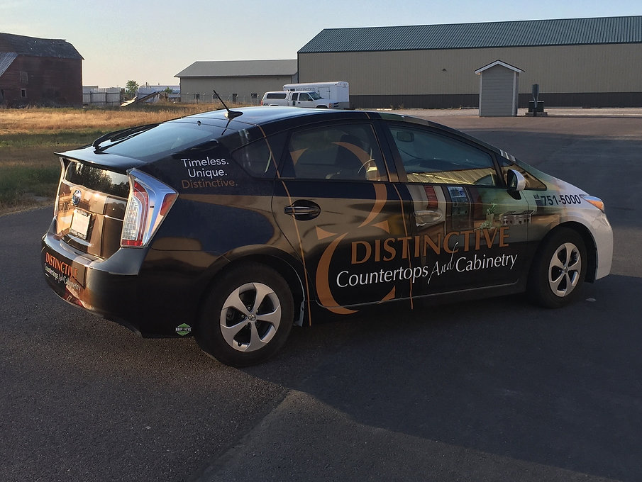 Vehicle wrap, Toyota Prius, Wrap Hive, car wrap, graphic design, Kalispell Montana