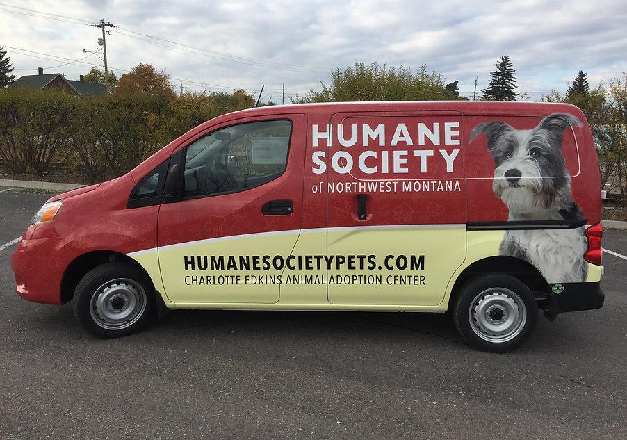 Custom Nissan NV 200 for Humane Society of NW MT