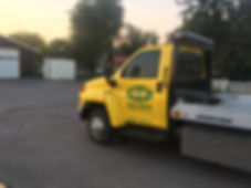 3M Gloss Bright Yellow wrap film on this color change wrap for OHS Towing, Columbia Falls, MT. Wrap Hive.