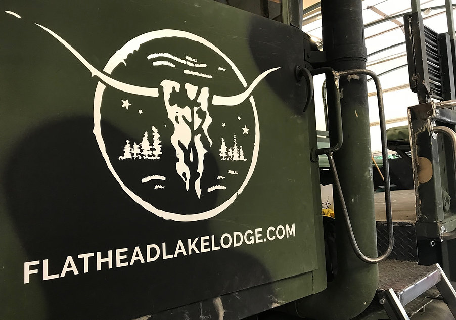 Flathead Lake Lodge logo decal
