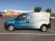 Side view of full wrap on a Dodge Promaster, Wrap Hive Kalispell, MT