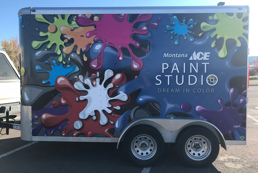 Vibrant printed full wrap for ACE Hardware. By Wrap Hive in Kalispell, Montana