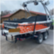 Custom full printed boat wrap