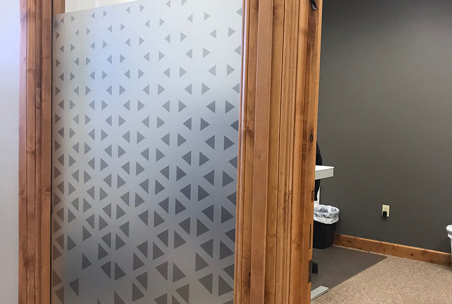 Triangle Pattern frosted windows