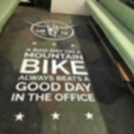 Biking quote decal