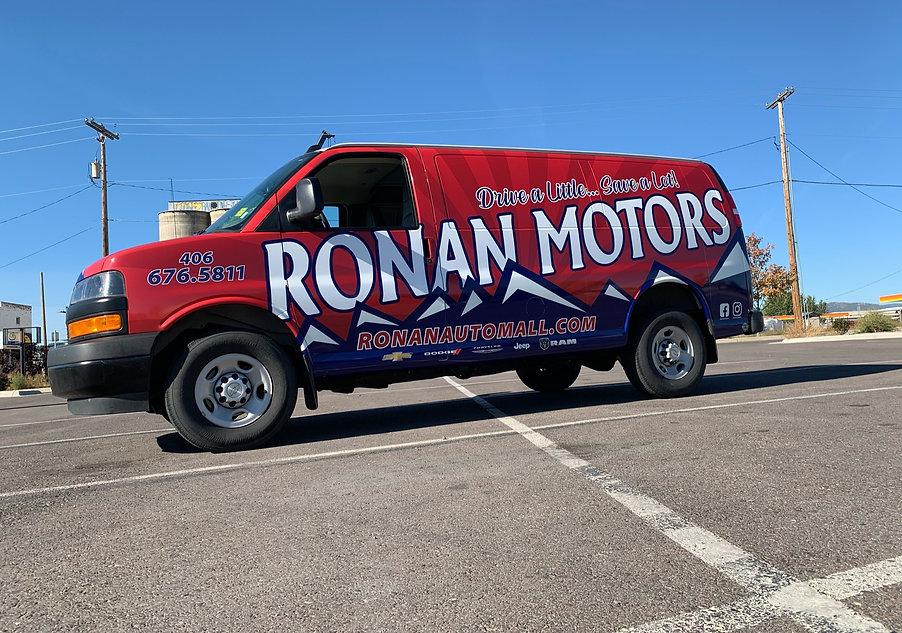 Full wrap Chevy Express van