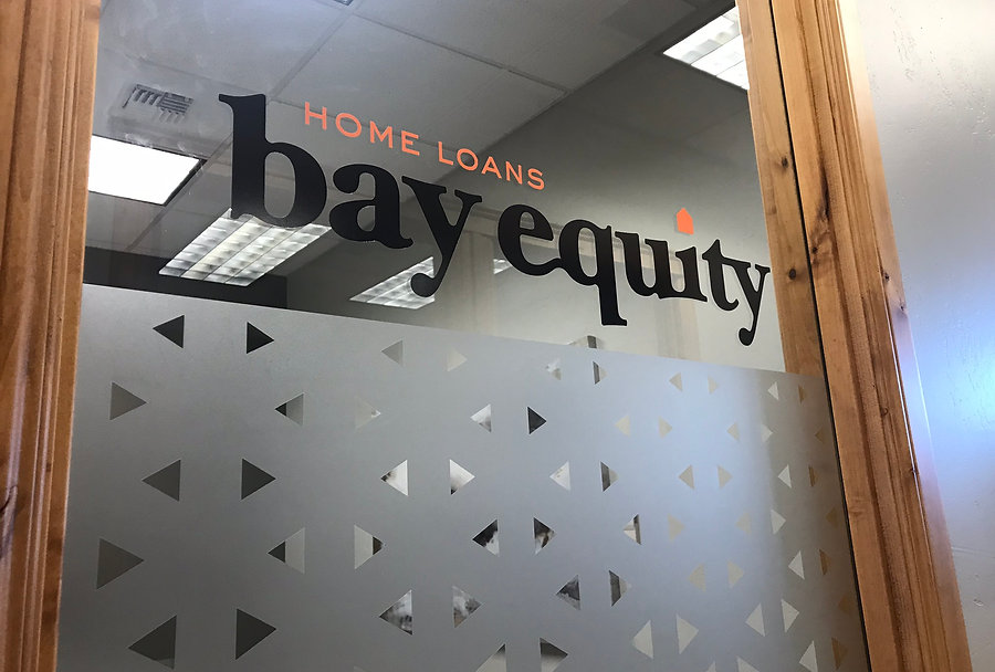 Bay Equity window decals and frosted windows