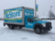 Full vehicle wrap and box for Habitat for Humanity by Wrap Hive, Kalispell MT.