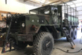 Flathead Lake Lodge Bike Truck   Old miitary vehicle