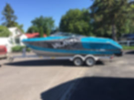 Full print boat wrap by Wrap Hive