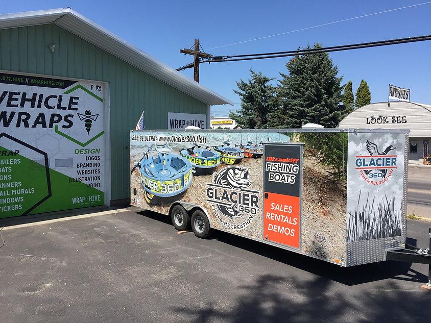 Glacier 360º full print wrap trailer
