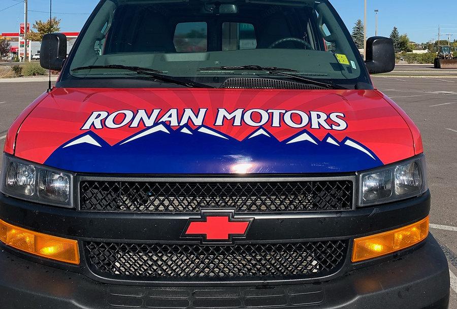 Ronan Motors custom wrapped Chevy Express