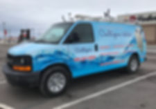 Full wrap on Chevy Express for Culligan Water. By Wrap Hive, Kalispell, MT