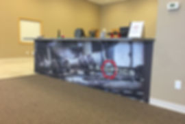 Close up of photo wall wrap, by Wrap Hive, Kalispell, MT