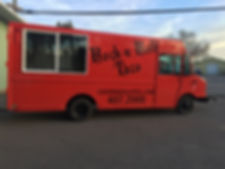 Vehicle wrap for Rock N Roll Taco, Kalispell MT . Food truck wrap and graphics.
