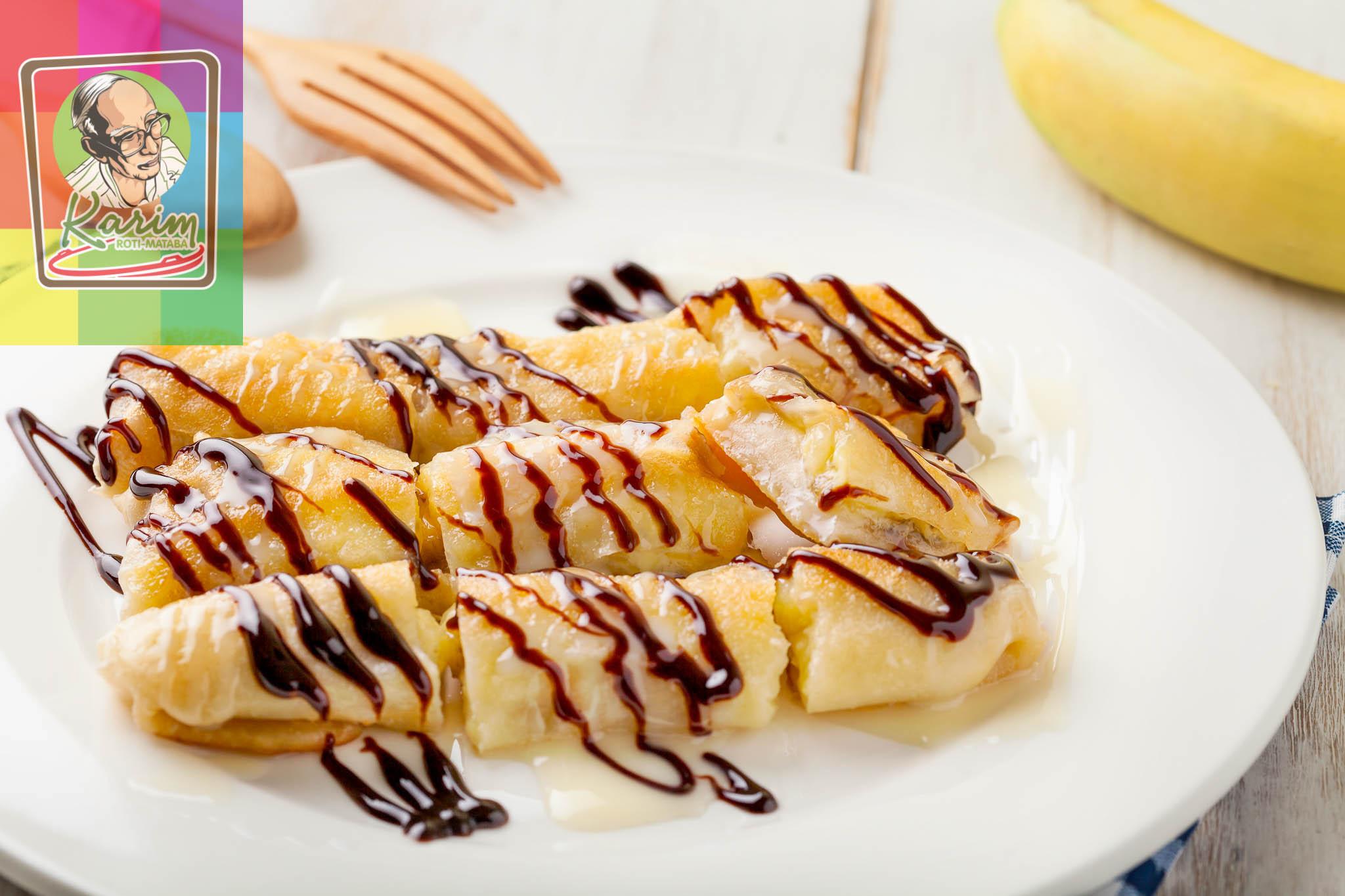 6 Banana Roti with Milk & Chocco