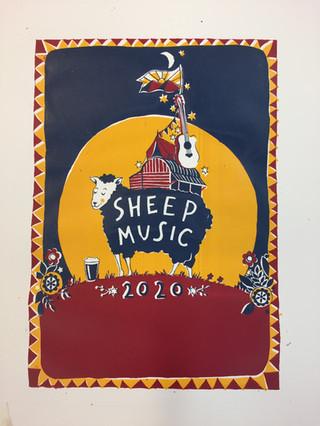Screenprint for Sheep Music Festival