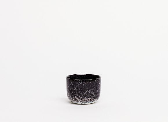 espresso cup black splatter dense