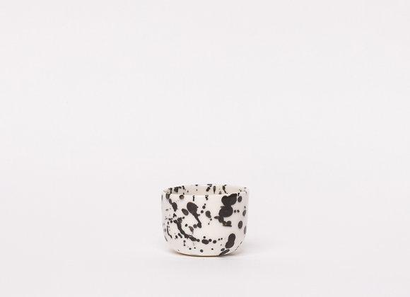 espresso cup black splatter