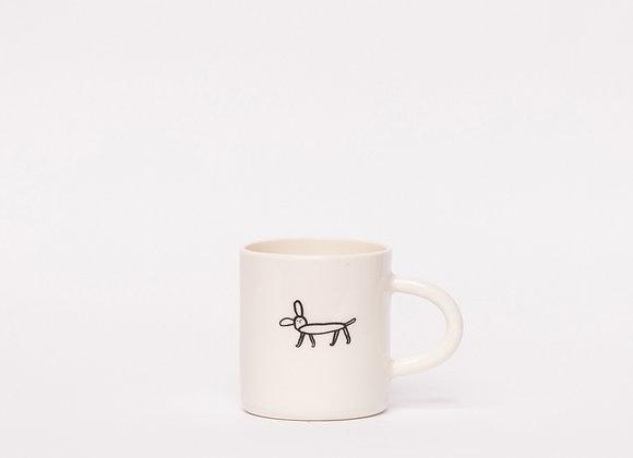 small mug with dog
