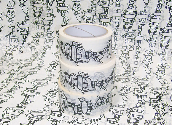 paper tape with dogs