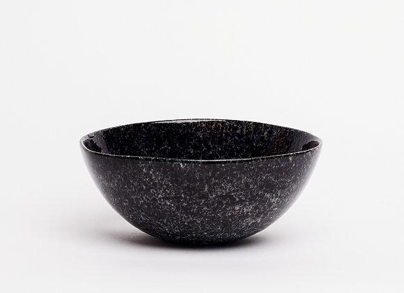 bowl black splatter dense