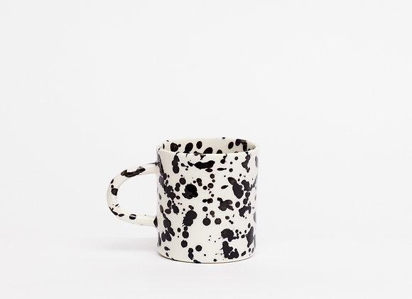 small mug black splatter