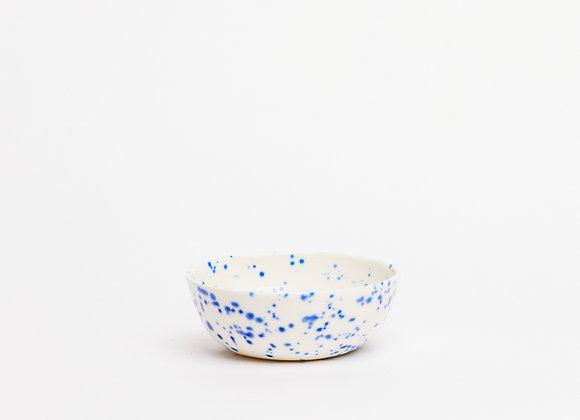 small bowl blue splatter