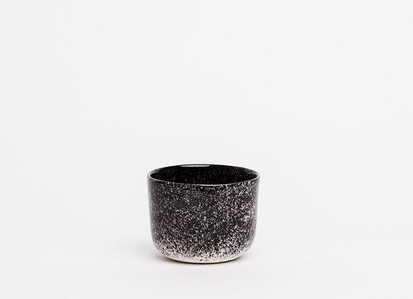 small cup black splatter dense