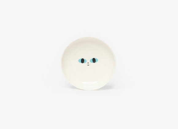 deep mini plate with a face
