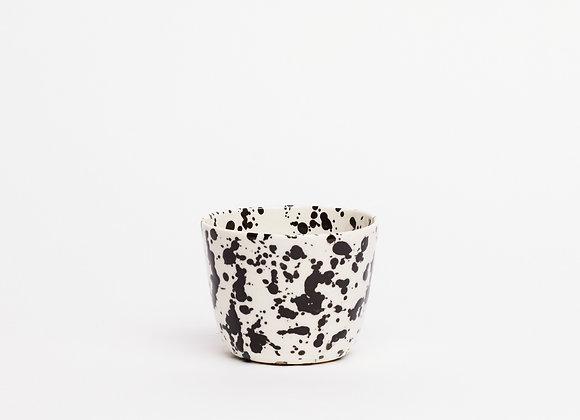 kado cup black splatter